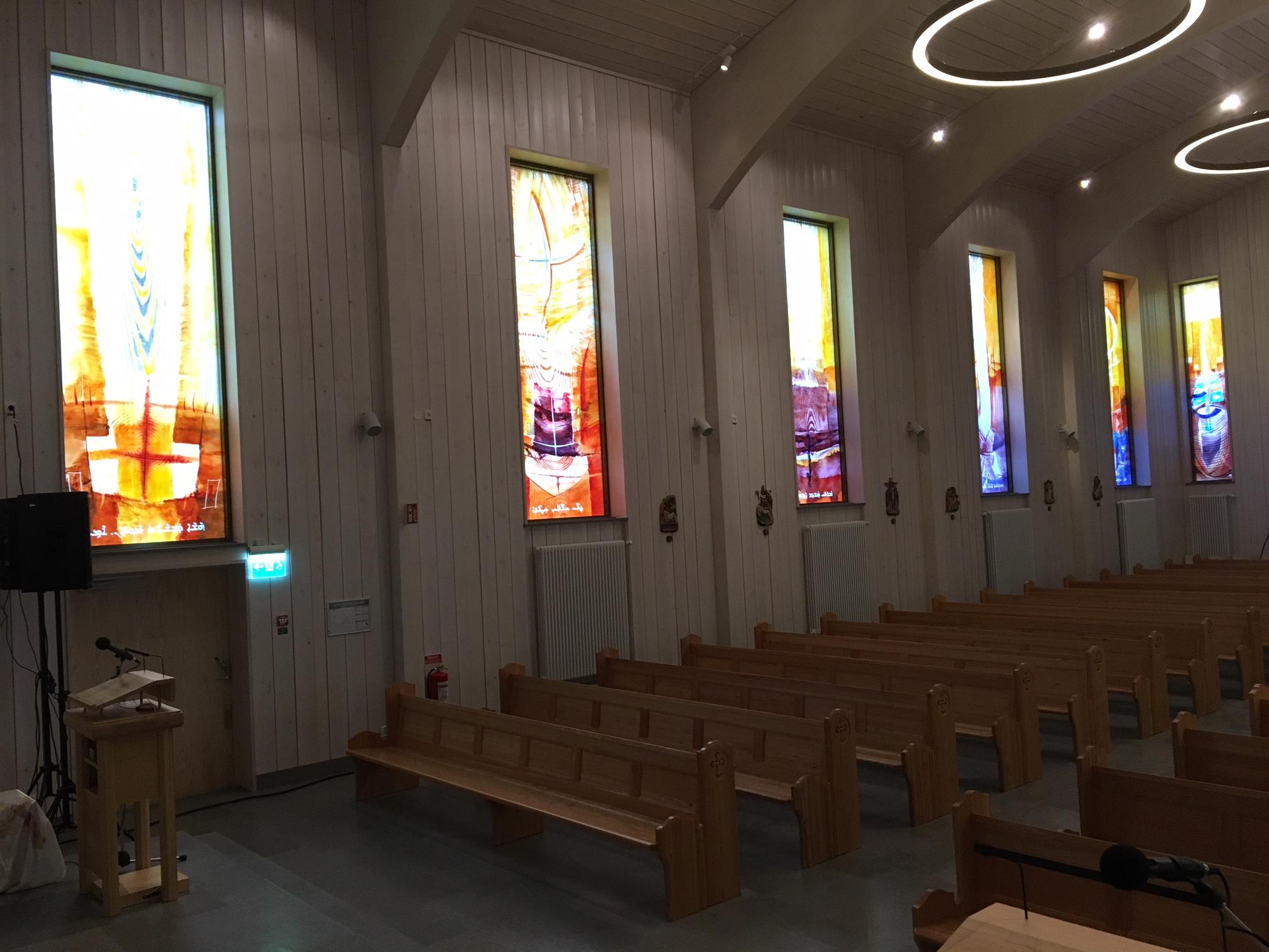 Die neu eingeweihte Kirche in Södertälje