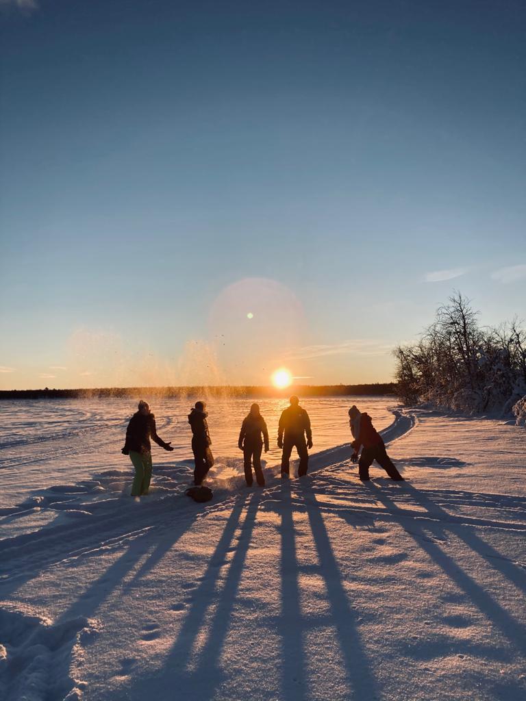 Sonnenuntergang in Kiruna