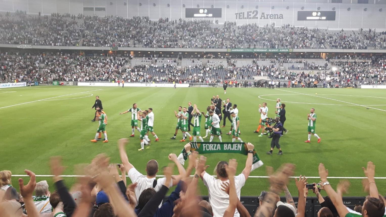 Fussballspiel in Stockholm: Hammarby gegen Malmö