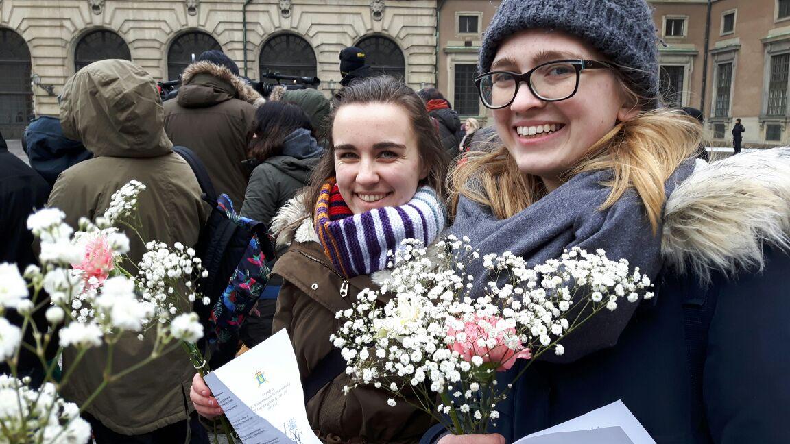 Lioba Dietz und Magdalena Kollbeck bei der Namenstagsfeier von Kronprinzessin Victoria