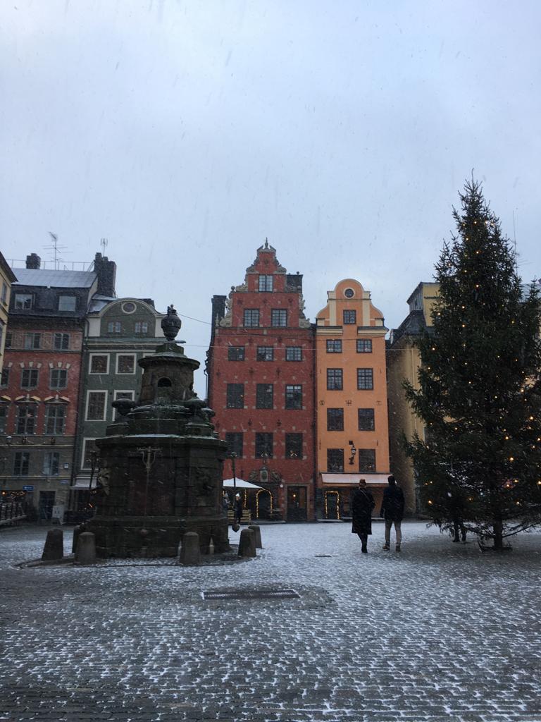 Verschneites Stockholm