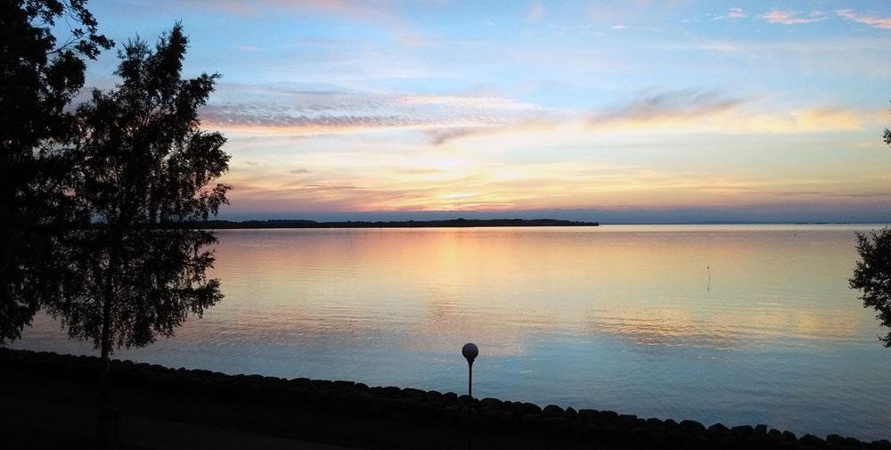 Sonnenuntergang in Vadstena.