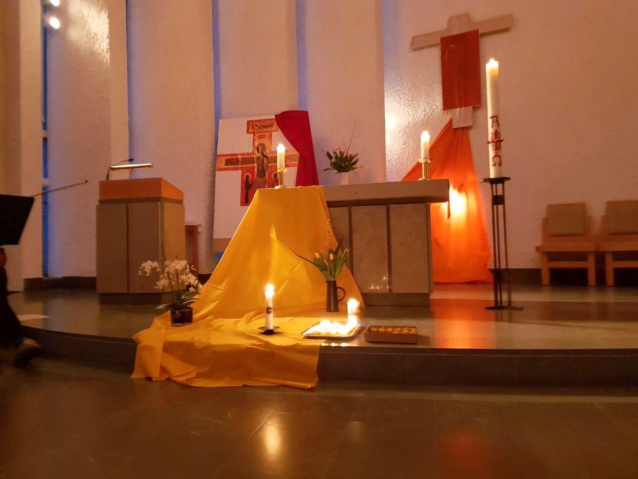 Taizé-Gebet in St.Lars in Uppsala