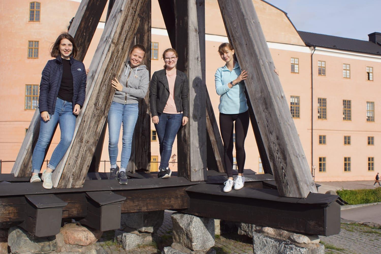 Uppsala mit Madeleine, Pauline und Anna
