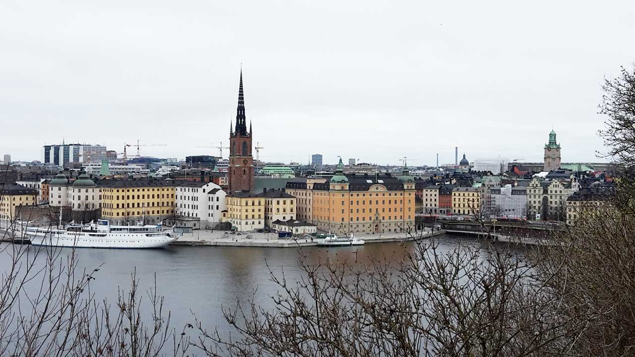 Blick auf Gamla Stan in Stockholm