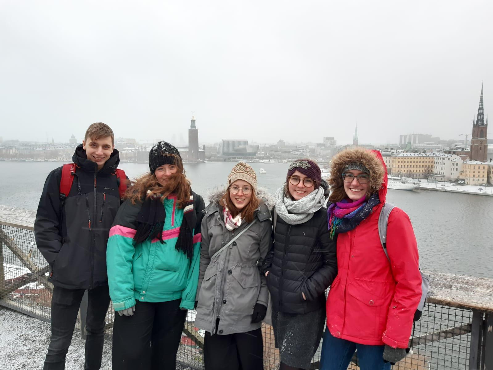 v.l. Lorenz, Klara, Hannah, Clarita und Sonja in Stockholm