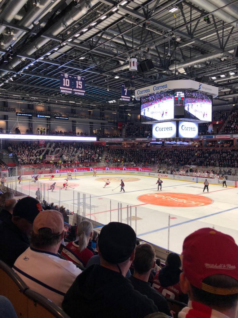 Eishockeyspiel in Linköping