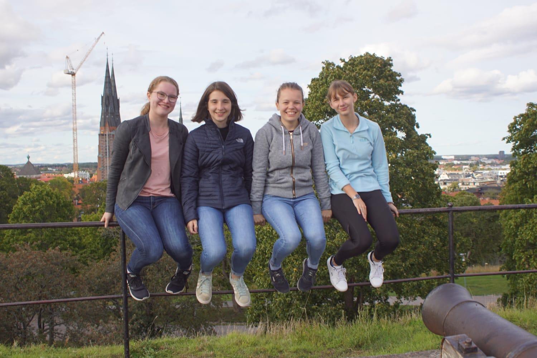 In Uppsala - Friederike, Madeleine, Pauline und Anna (v.l.)