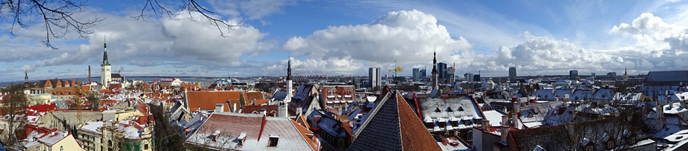 Tallinn im Panorama-Blick