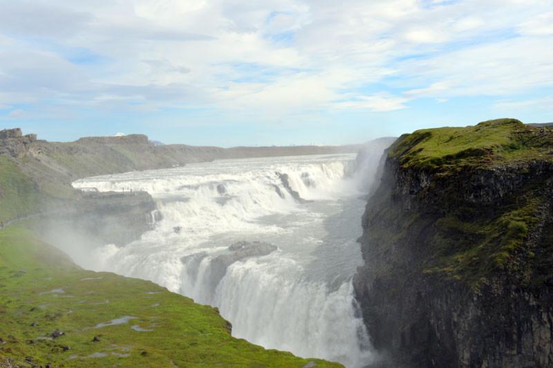 Der Gullfoss Wasserfall