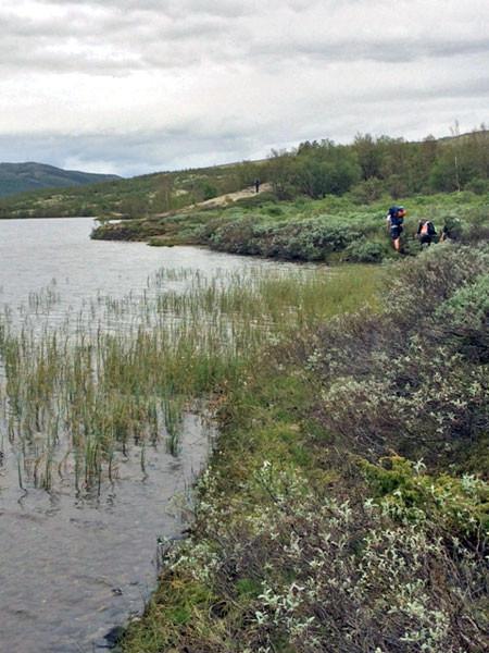 Der See, an dem die Pfadfinder im letzen Jahr übernachtet haben.