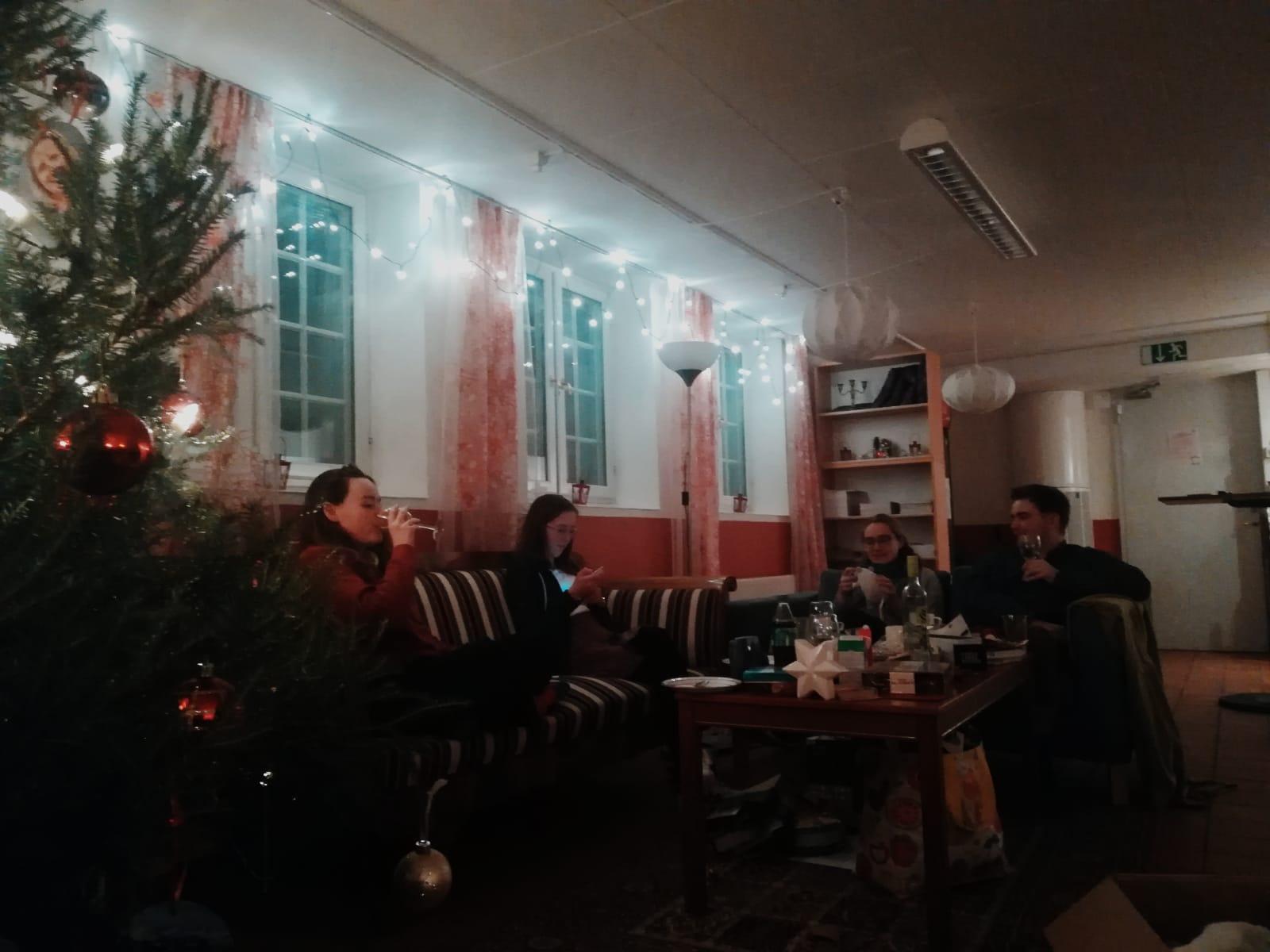 Heiligabend im Café