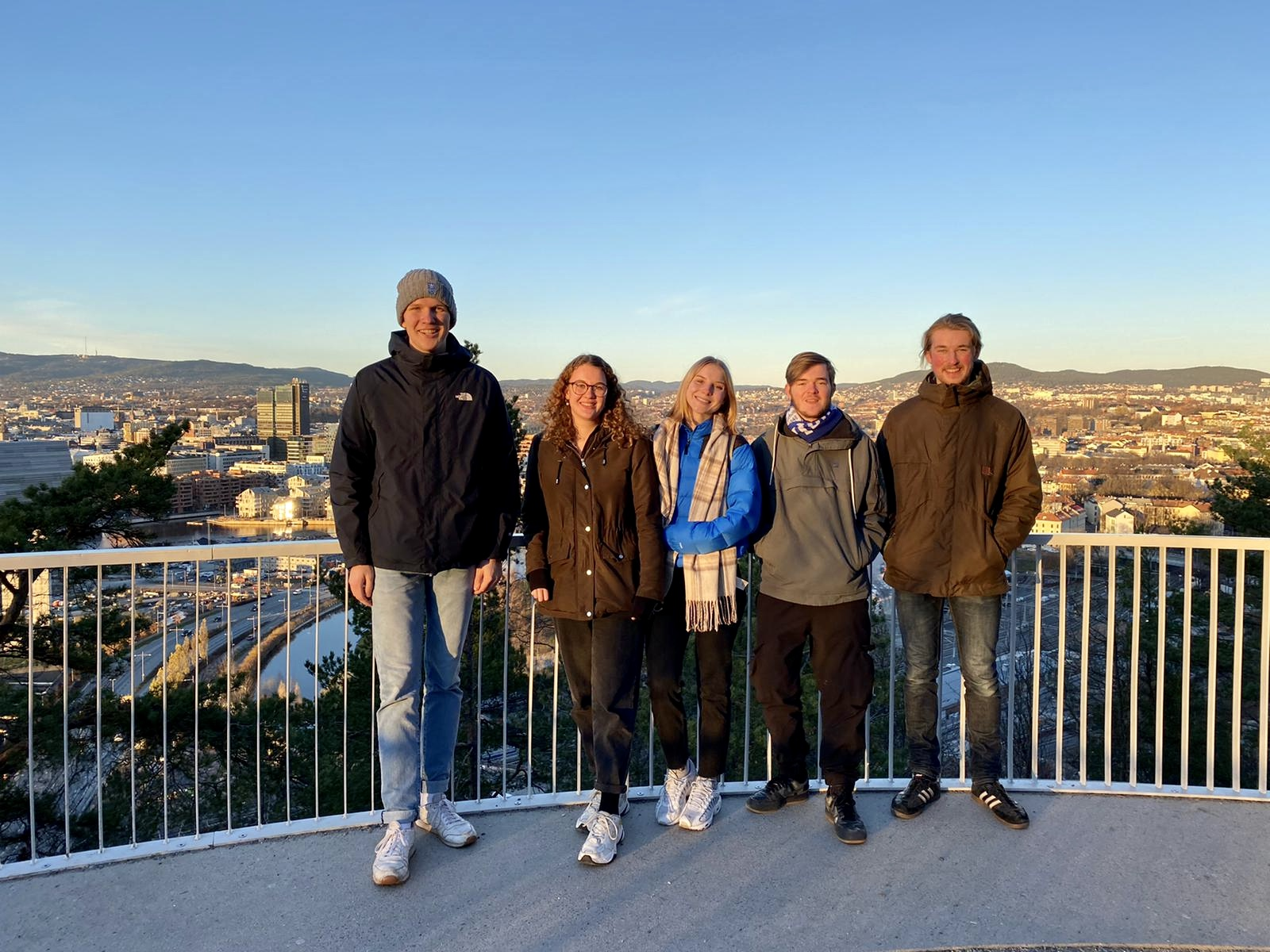 Paul, Elske, Franka, Tim, Jonas im Ekebergparken