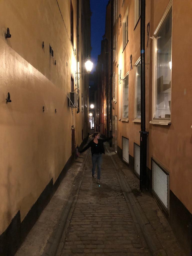 Irina in Gamla Stan in Stockholm