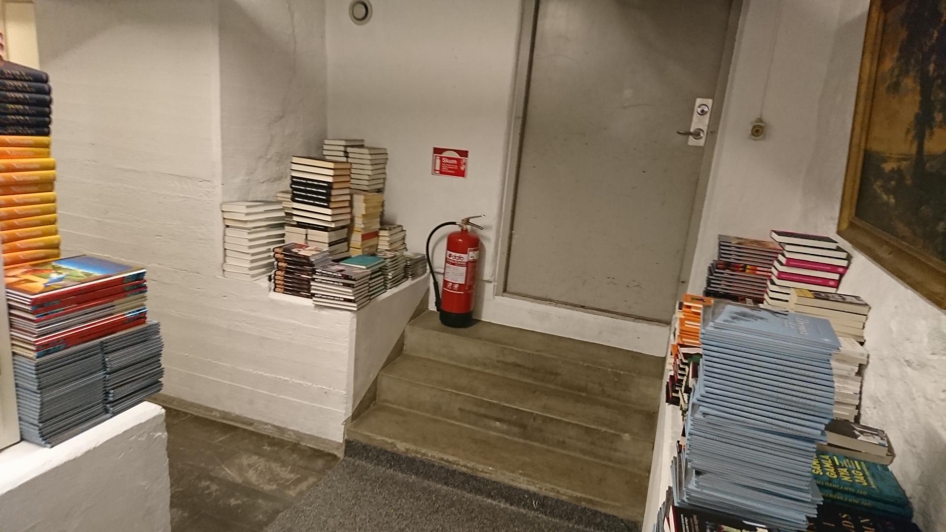 Kreativität gefordert - das Lager des Buchladens