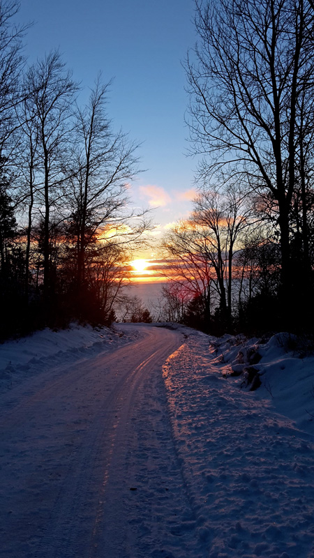 Sonnenuntergang am Omberg gegen 14:30 Uhr