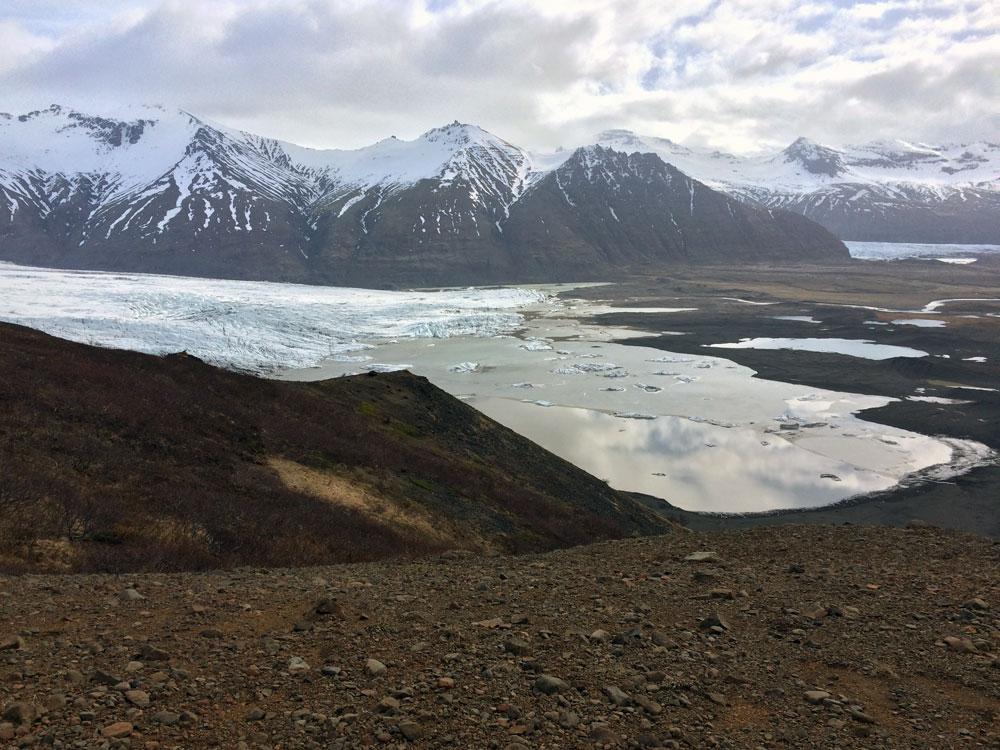 Eine Gletscherzunge.