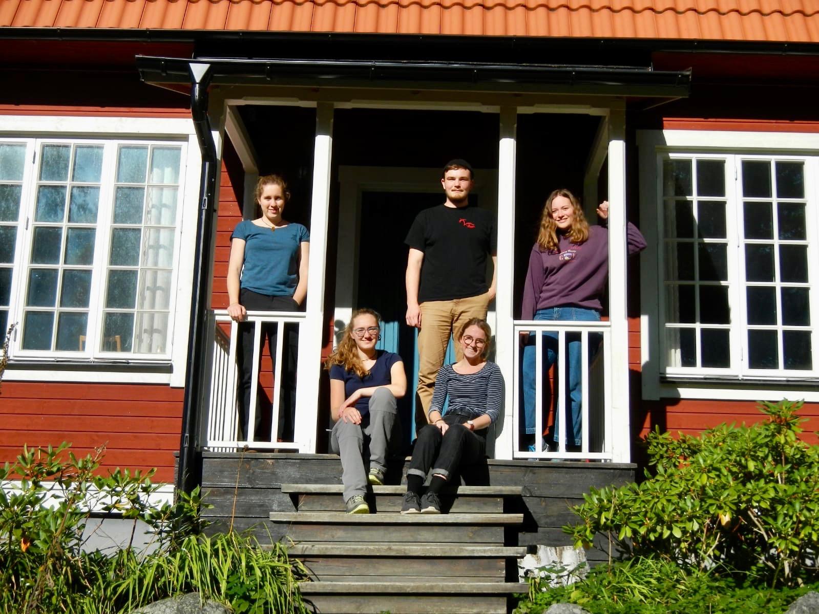 v.l.: Ricarda, Sonja, Clarita, Konrad, Klara