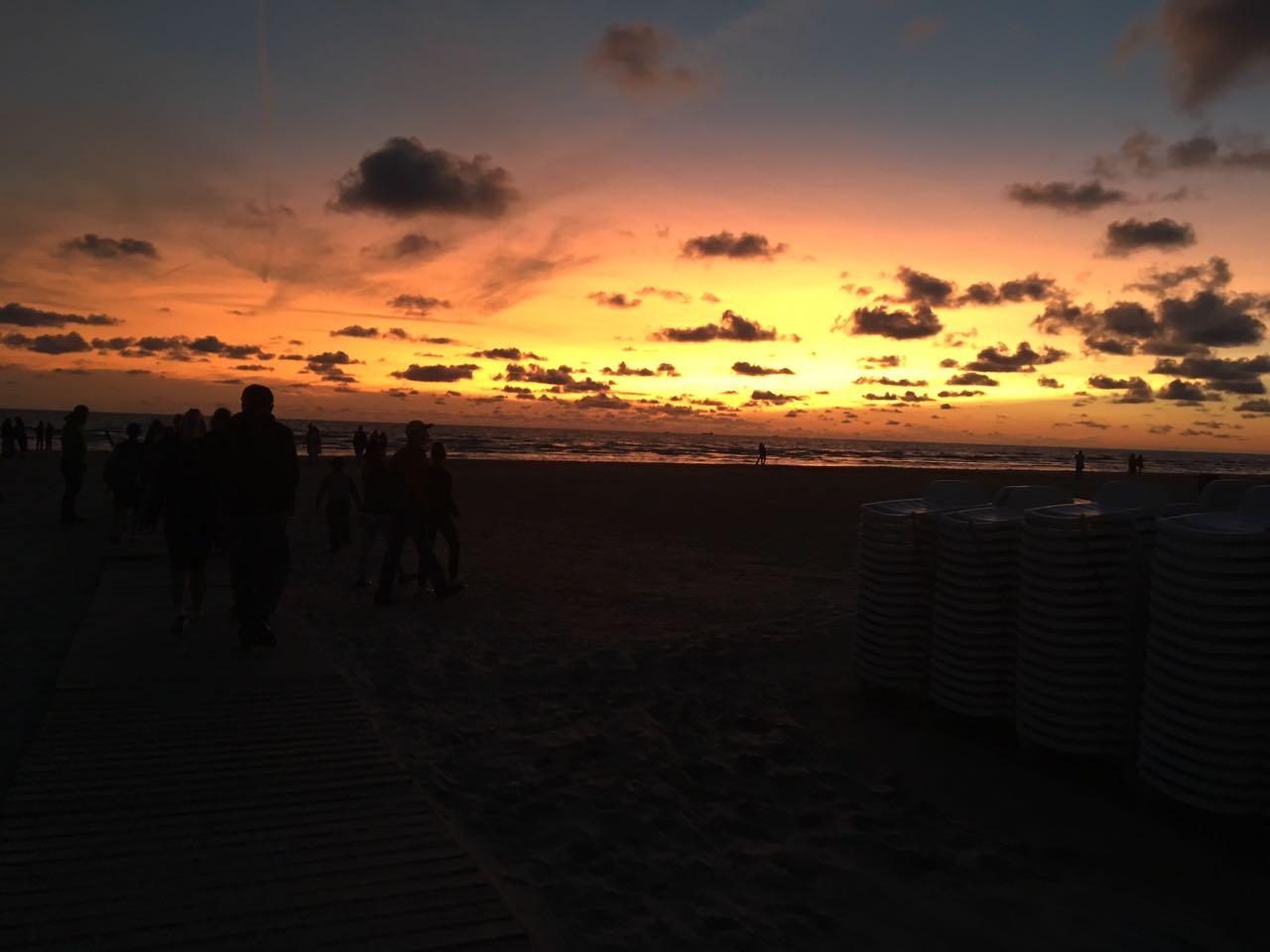 Sonnenuntergang am Strand von Liepaja