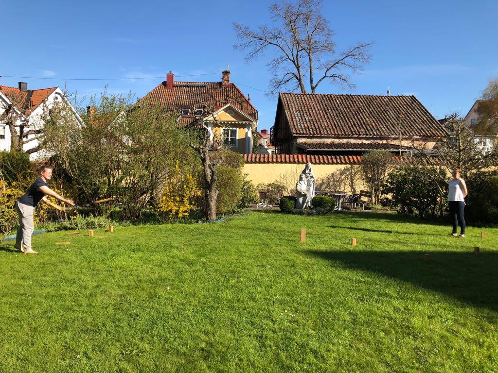 Wikingerschach im Klostergarten in Vadstena
