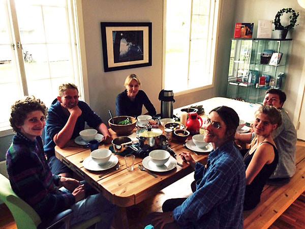 Das Abendessen mit Deborah, Judith und Tiziana.