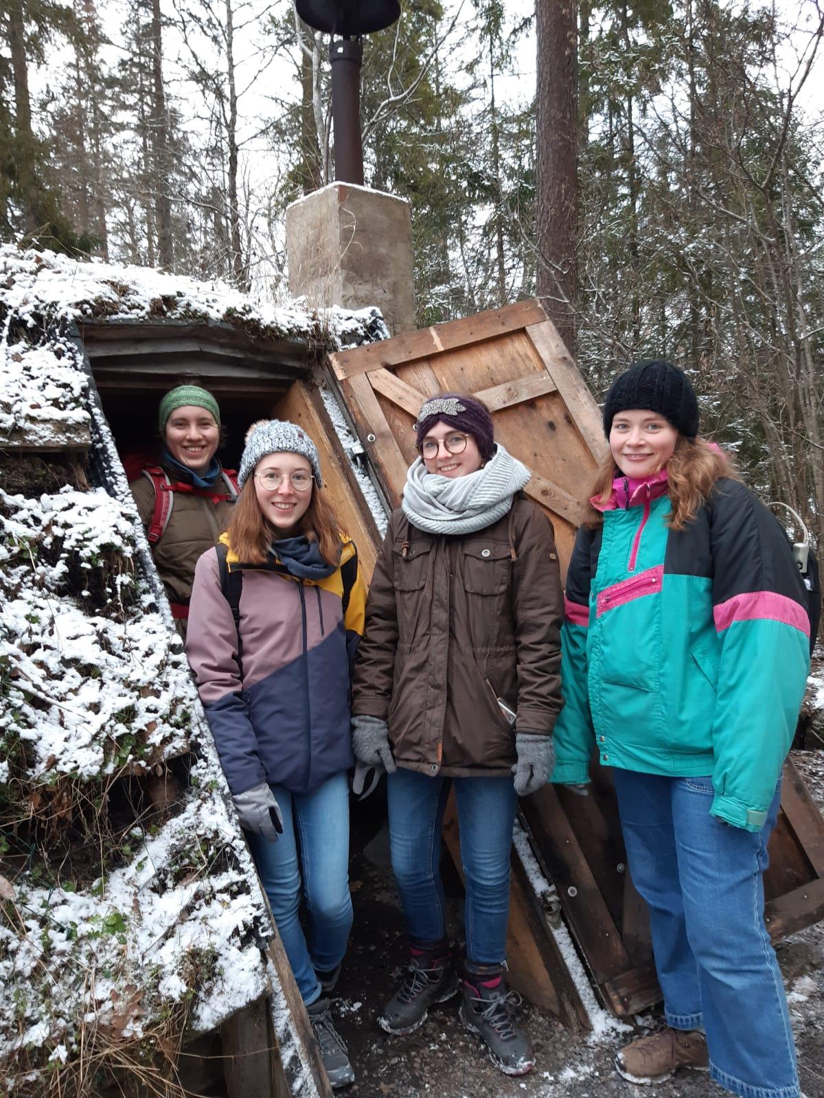 Wanderung mit Ricarda, Hannah, Clarita und Klara