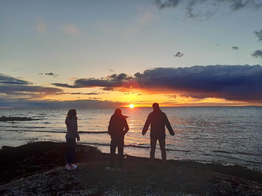 Beobachtung des Sonnenuntergangs
