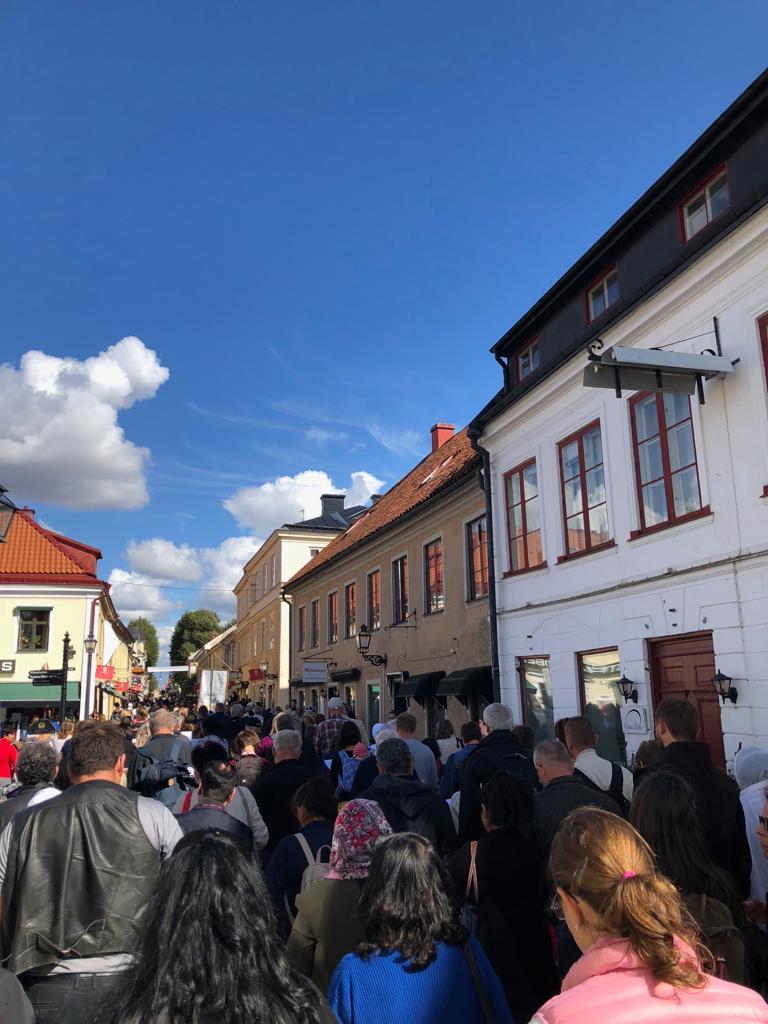 Prozession zur Bistumswallfahrt in Vadstena
