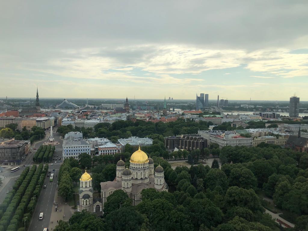 Aussicht auf Riga