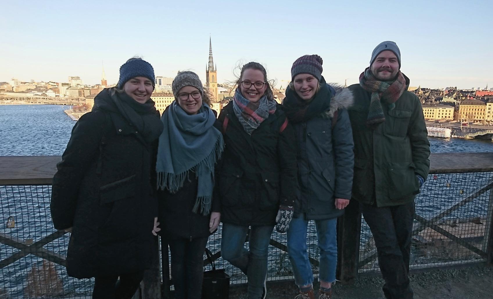 Besuch aus Riga in Stockholm im Januar