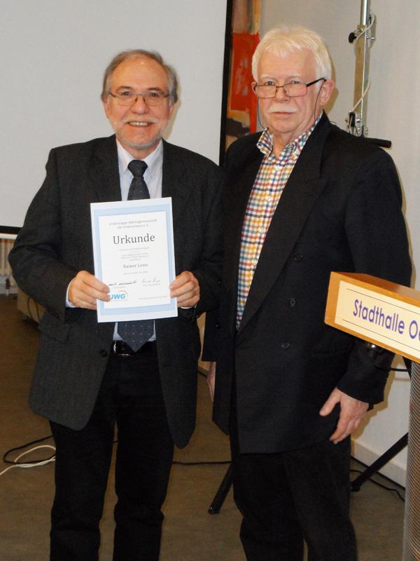 Ehrung für 25 Jahre Mitgliedschaft: Rainer Lewe