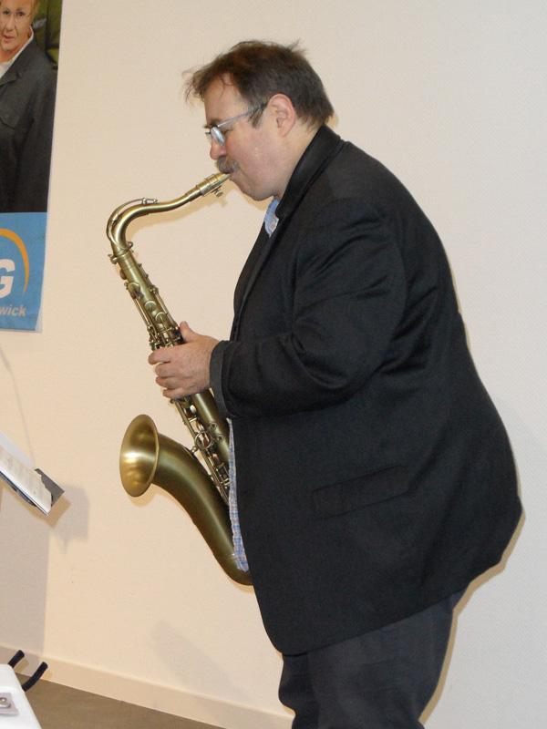 Dietmar Schmahl am Saxofon