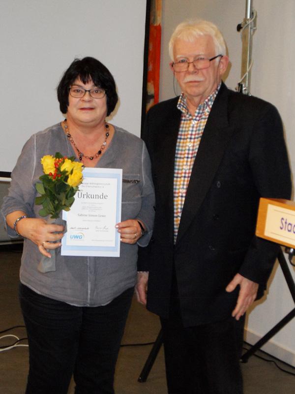 Ehrung für 25 Jahre Mitgliedschaft: Sabine Simon-Lewe