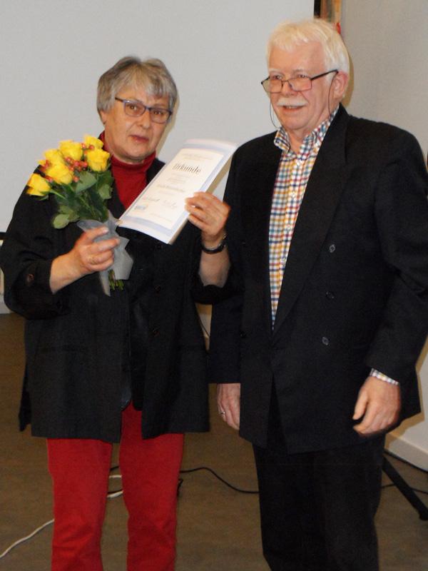 Ehrung für 25 Jahre Mitgliedschaft: Ursula Weissenbacher