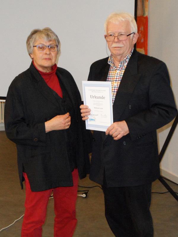 Ehrung für 25 Jahre Mitgliedschaft: Helmut Lenk