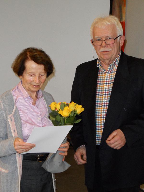 Ehrung für 25 Jahre Mitgliedschaft: Lieselotte Kaiser-Lehmann