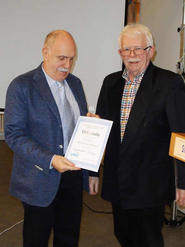 Ehrung für 25 Jahre Mitgliedschaft: Hans-Joachim Lehmann