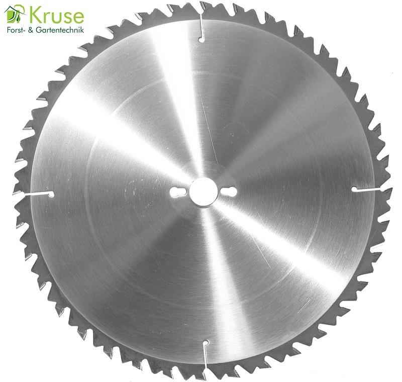 Hartmetallbestücktes LWZ-Kreissägeblatt, Langschnitt-Wechselzahn für feine Längs- und Querschnitte in Naturhölzer, geeignet für Tisch-, Bau- und Brennholzkreissägen.