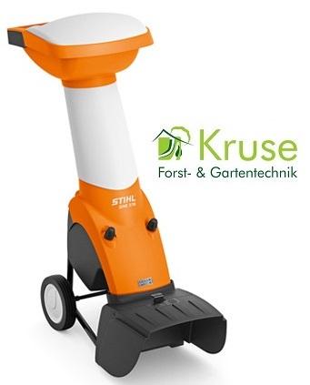 Gartenhäcksler mit patentierter Wendetechnologie bei Kruse Gartentechnik in Petershagen.