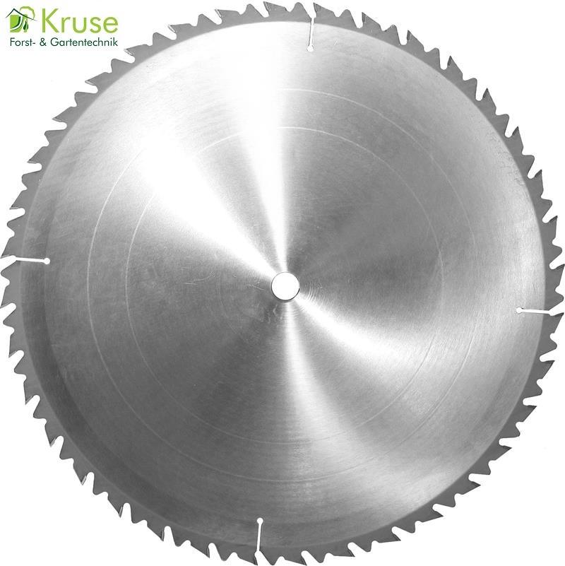 Hartmetallbestücktes LFZ-Kreissägeblatt, Langschnitt-Flachzahn für Längs- und Trennschnitte in Naturhölzer, geeignet für Tisch-, Bau- und Brennholzkreissägen.