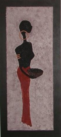 CASIA 40 x 90 cm, Acryl & Sand gespachtelt (verkauft)