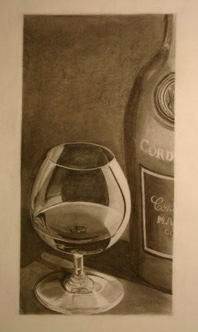 CORDON 25x60 cm, Kohle auf Papier (unverkäuflich)