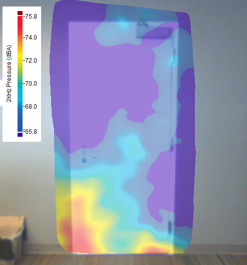 Sound Intensity Map of Acoustic Door