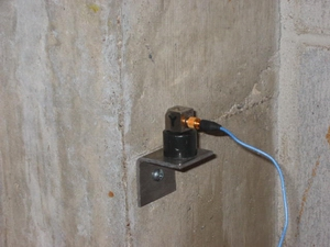 Tri-Axial Accelerometer Attached to Building