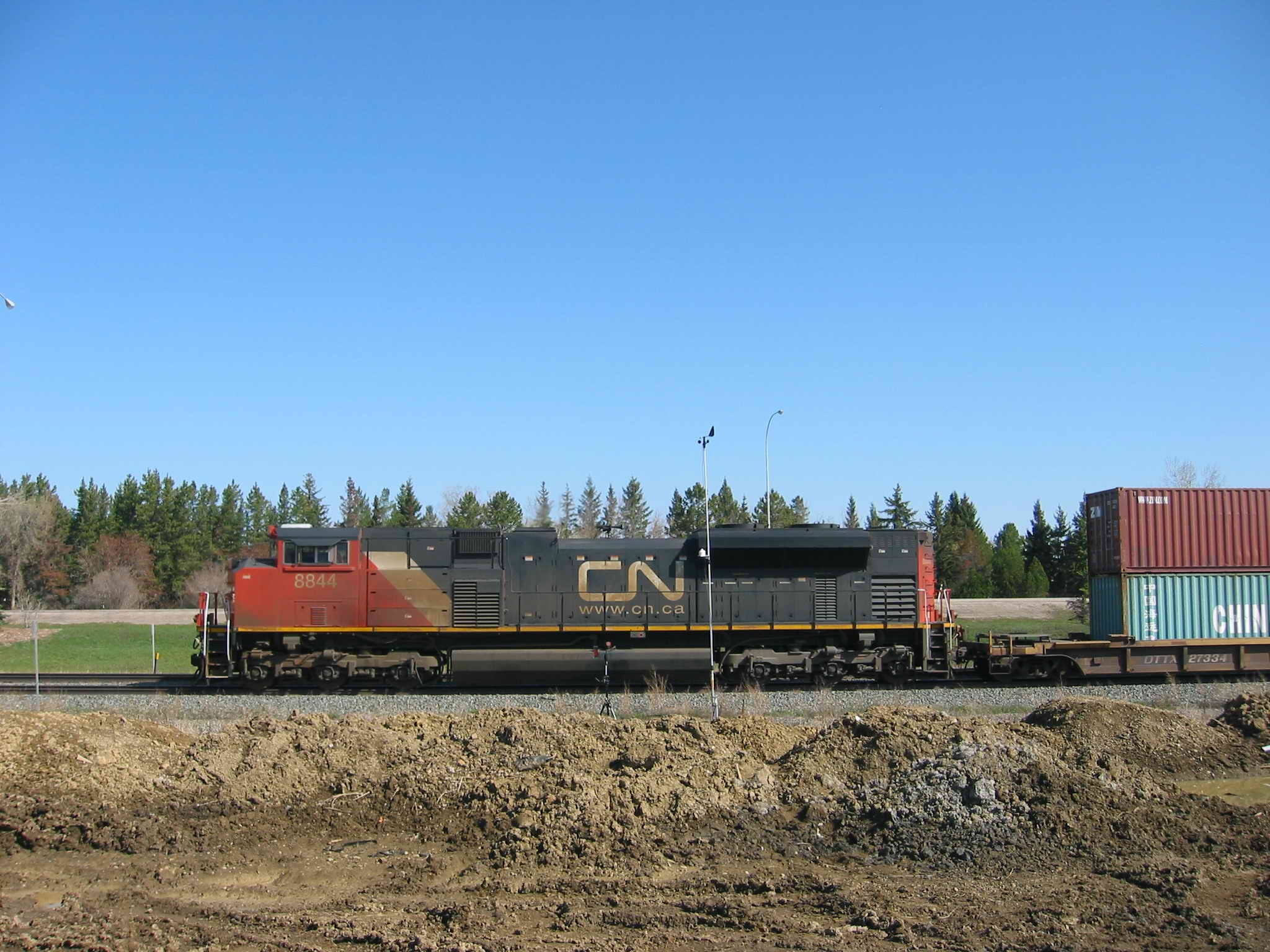 Freight Train With Noise, Vibration, and Weather Monitors