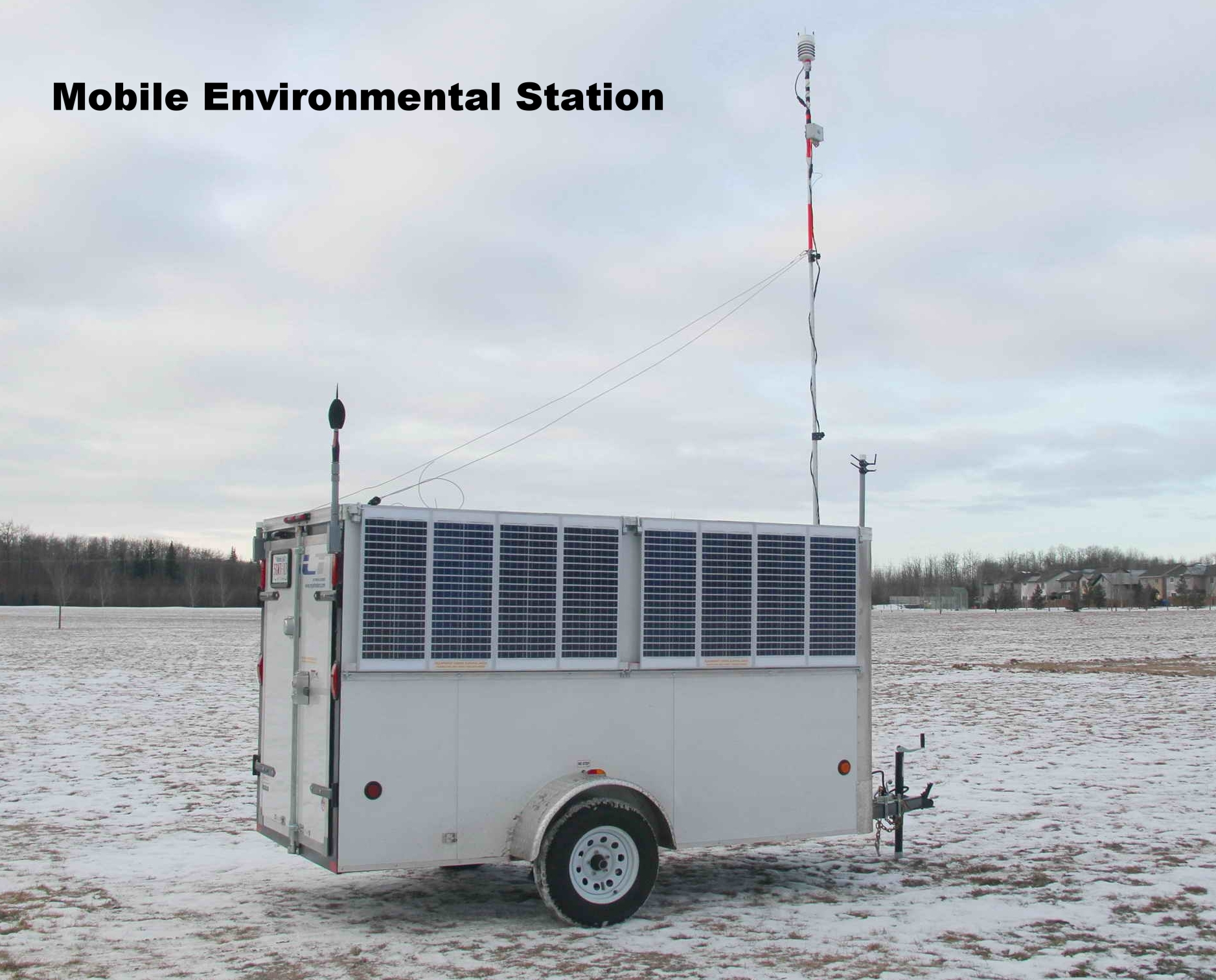 Long Term Noise and Weather Monitoring Trailer