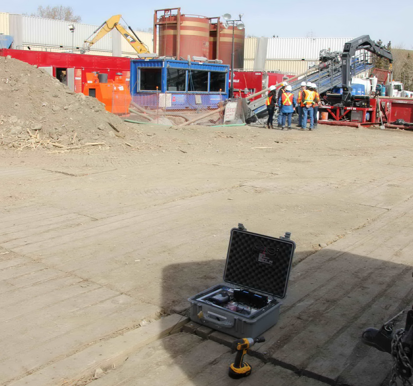 Vibration Monitor at Drilling Rig Site