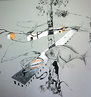 Wandzeichnung Büro Immobilien Scheuermann