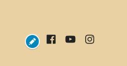 """Social media buttons auf der Webseite der """"Videoakademie für Potenzialentfaltung"""" noch einmal in größer"""