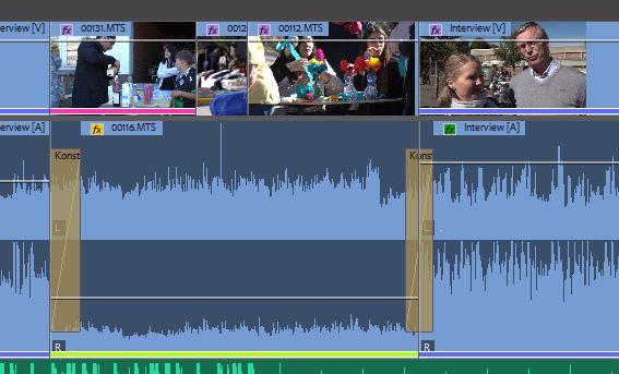 Weiche audio Überblendung bei Premiere